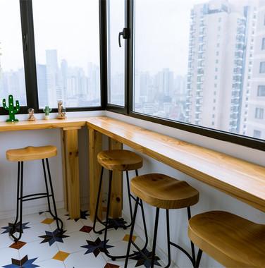 110平米自然风休闲阳台装饰效果图