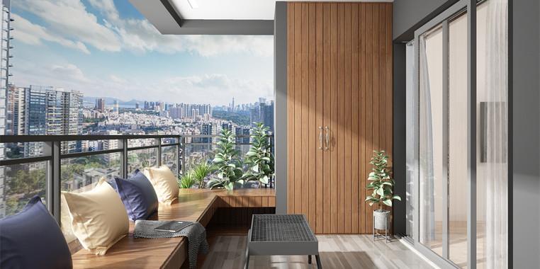 115平米现代风格阳台场景设计效果图