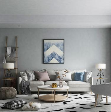 110平米北欧风格客厅装修设计效果图