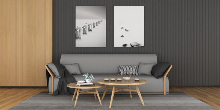 欧式风格三居室客厅背景墙装饰效果图