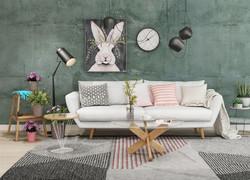 小戶型混搭風格可愛客廳設計圖片