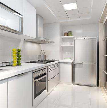 100平现代简约厨房设计图片