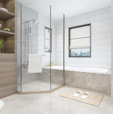 别墅现代风格卫生间设计图片
