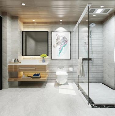 别墅现代风格卫生间装修效果图