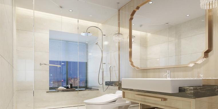 别墅现代简约风格卫生间装修图片