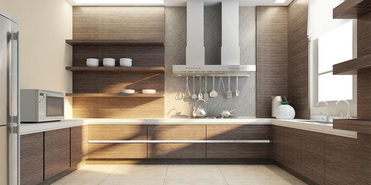 一楼别墅现代风格厨房设计图片
