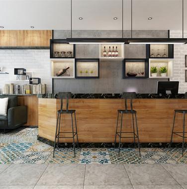 现代风格厨房吧台设计图片