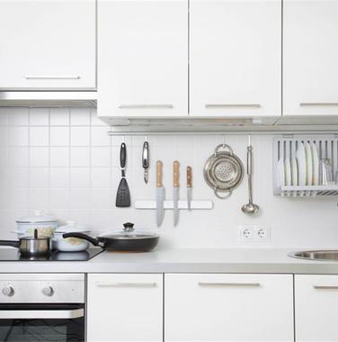 两居室现代小清新风格厨房设计图片