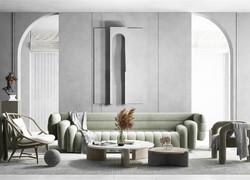 三居室北歐極簡風格家具裝修效果圖