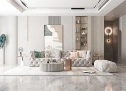 115平米北歐風格客廳家具裝飾效果圖