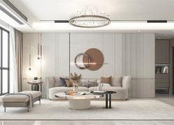 90平米北歐風格客廳等級裝修效果圖