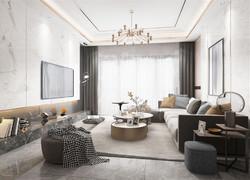 大戶型北歐風格客廳家具裝飾效果圖