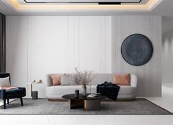 100平米極簡風格客廳裝修效果圖