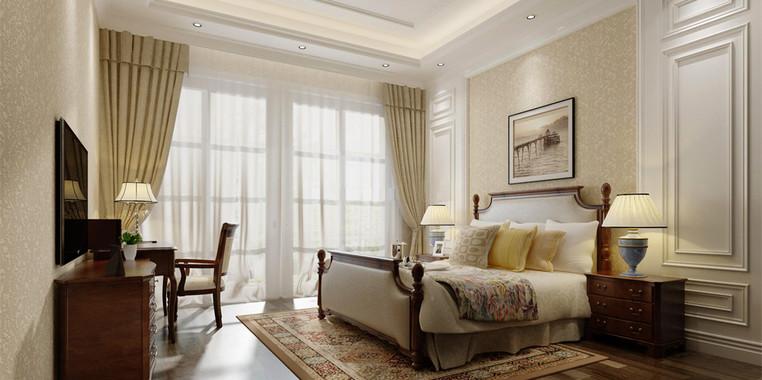 大户型欧式风卧室墙面装修效果图