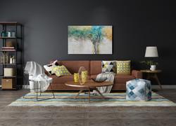 大戶型灰色系北歐風客廳沙發裝修效果圖