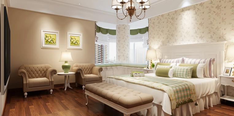 110平米欧式卧室飘窗装修效果图