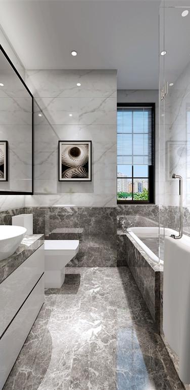 90平米欧式风格卫生间墙面装修设计图