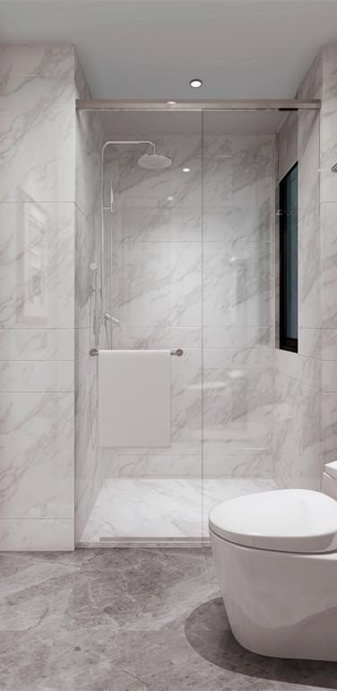 80平米欧式风格卫生间墙面装修效果图