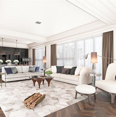 大户型欧式风格客厅沙发装修设计效果图