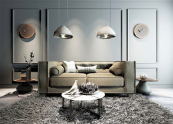 120平米歐式風格客廳燈具裝飾效果圖