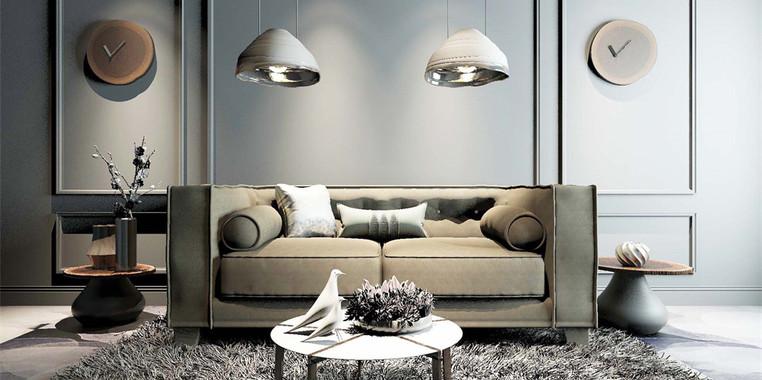 120平米欧式风格客厅灯具装饰效果图