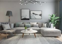 90平米歐式風格客廳沙發背景墻裝修