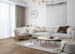 100平米簡歐風格客廳沙發裝修效果圖