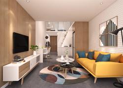 80平米時尚北歐風格客廳地面設計圖