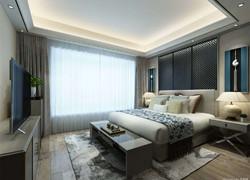 100平米現代風不規則臥室裝修圖片
