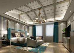 120平米歐式風格臥室吊頂設計效果圖
