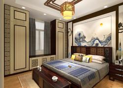 120平米歐式風格臥室飄窗設計效果圖
