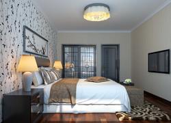 90平米簡歐風格臥室墻面裝飾效果圖