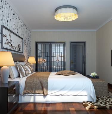 90平米简欧风格卧室墙面装饰效果图