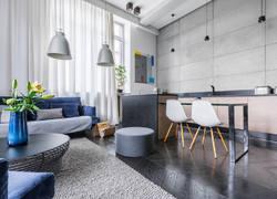 現代風格兩居室客餐廳裝修效果圖