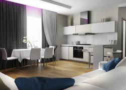 90平米簡約風格開放式客餐廳裝修設計