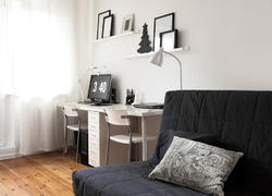 100平米現代風格客廳書桌裝修效果圖