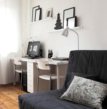 100平米现代风格客厅书桌装修效果图