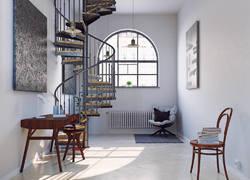 70平米后現代樓梯裝飾設計效果圖