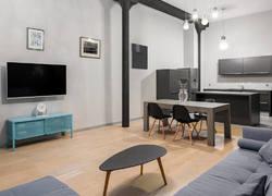 80平米簡歐風格開放式客廳設計效果圖