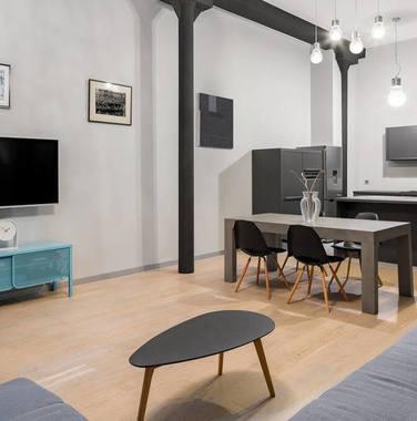 80平米简欧风格开放式客厅设计效果图