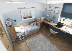 120平米自然風書房裝修設計效果圖