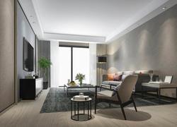 100平米簡約風格客廳地面裝修效果圖