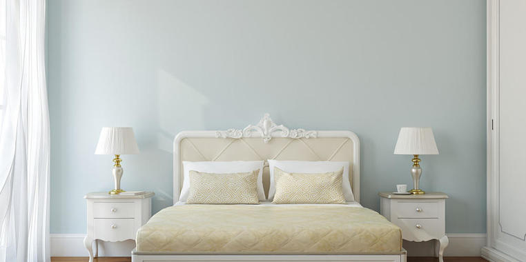两居室简欧风格卧室家具装修设计图