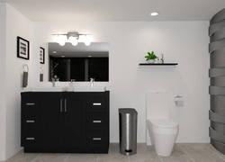 95平米現代風格衛生間家具設計圖