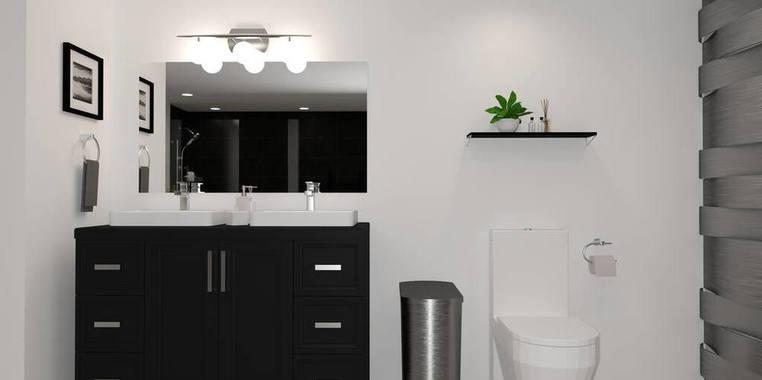 95平米现代风格卫生间家具设计图