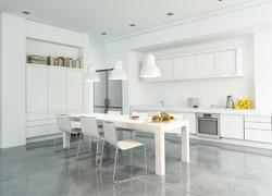 現代簡約風格廚房餐區一體化裝修設計圖片