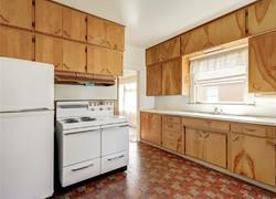 120平現代原木風廚房裝修設計圖片