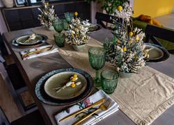 130平復古風格餐桌系列效果圖