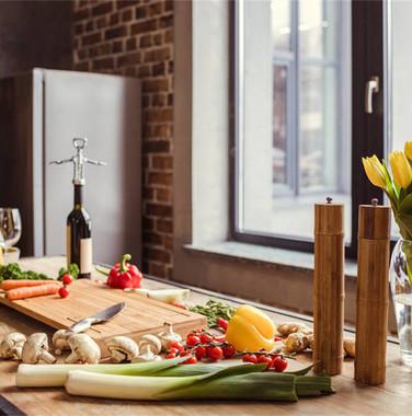 80平现代简约风格厨房设计装修效果图