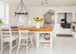 110平現代簡約廚房餐區一體化設計效果圖